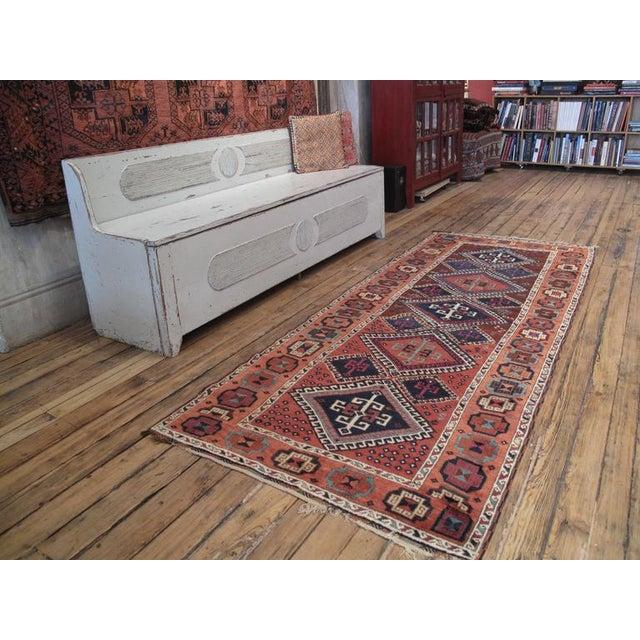 A fantastic antique rug by Kurdish weavers of Sivas-Malatya region in Eastern Anatolia (Turkey.) In characteristic long...