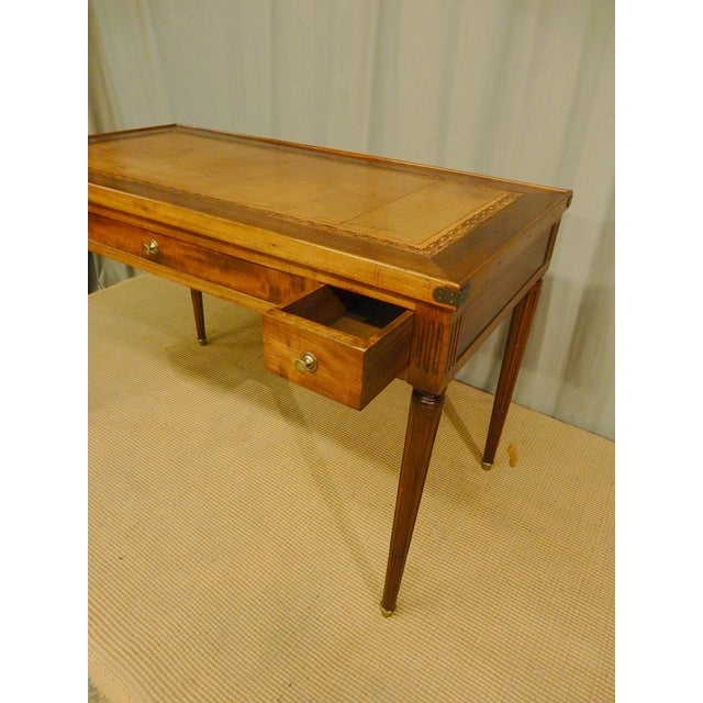 Brass 19th C French Louis XVI Style Game Table/Writing Desk For Sale - Image 7 of 8