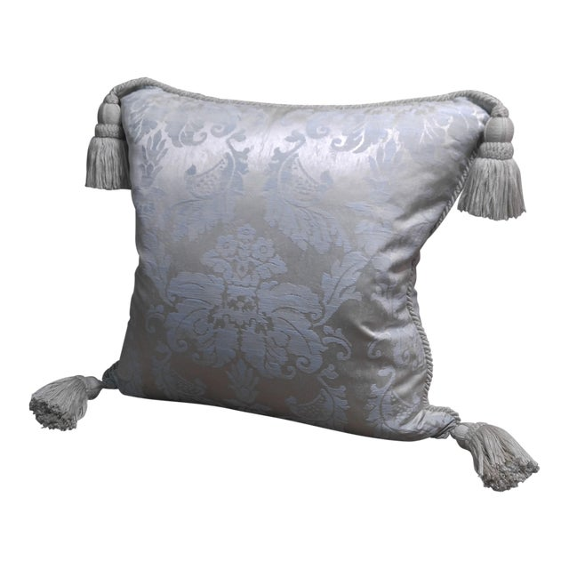 Anichini Silk Damask Throw Pillow For Sale