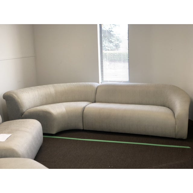Preview 1990s Vintage Vladimir Kagan Curved Sectional Sofa For Sale - Image 4 of 13