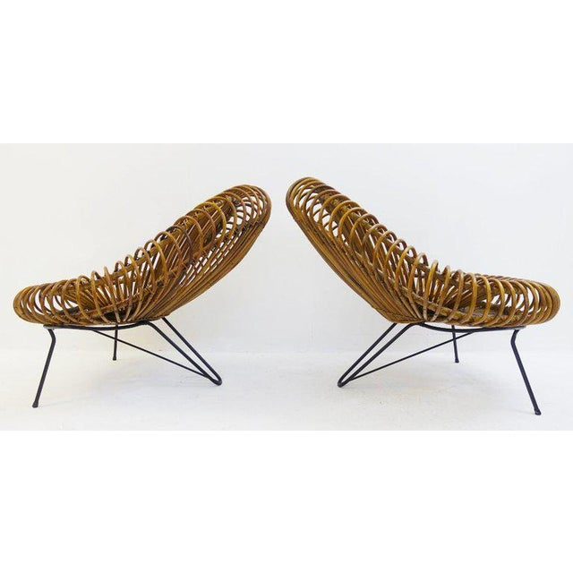 Sculptural Rattan Lounge Chair by Franco Albini