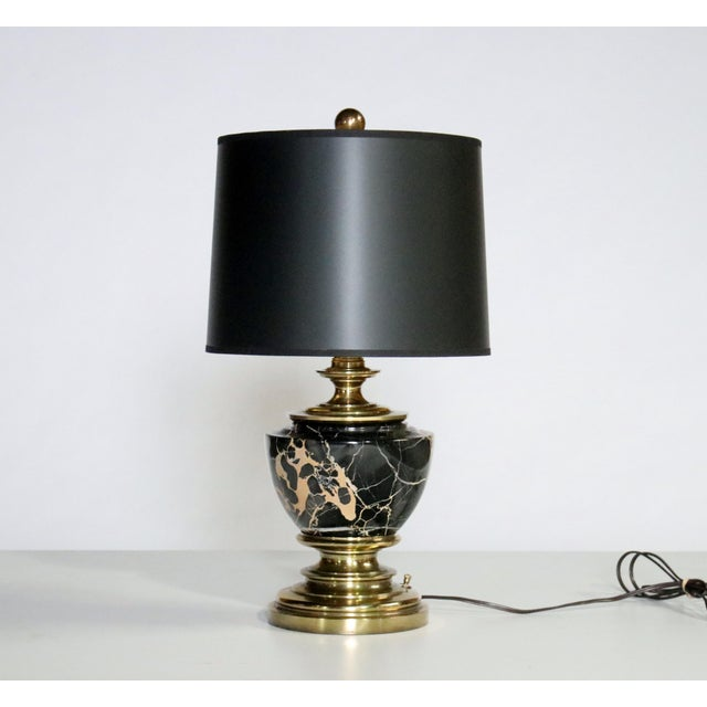 Gold Stiffel Marble and Brass Table Lamp For Sale - Image 8 of 8