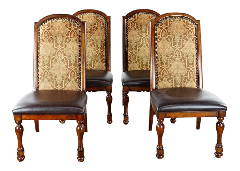 French Renaissance Wood Dining Chairs   Set Of 4