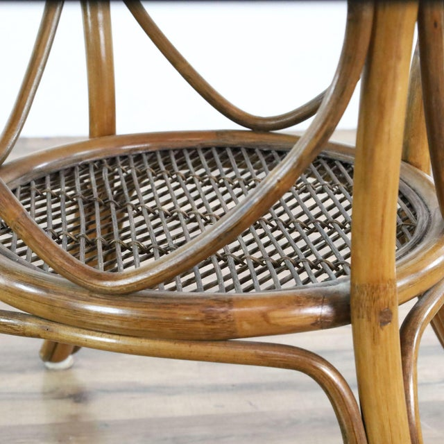 Vintage McGuire Rattan Dining Set - 5 Pieces For Sale In San Francisco - Image 6 of 9
