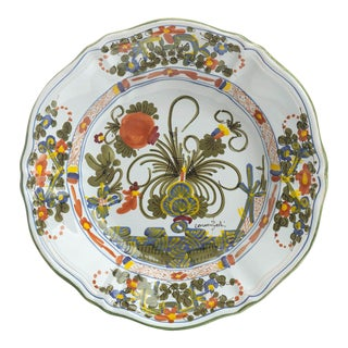 Blue Carnation Pasta/Soup Plate For Sale