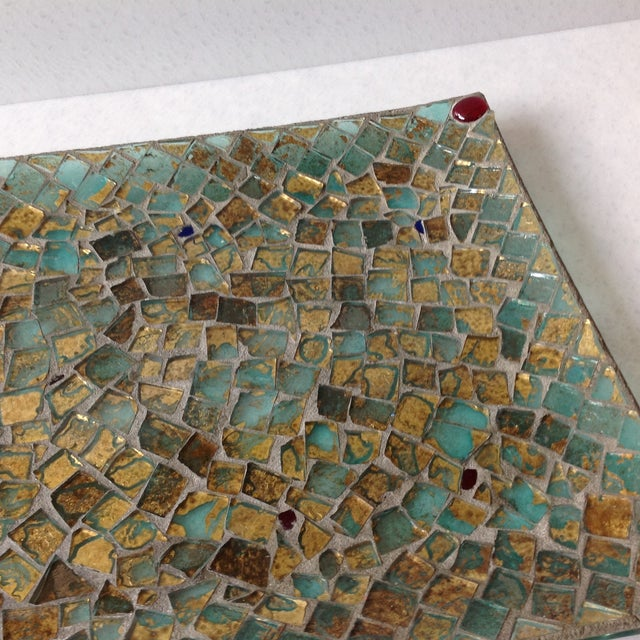 Gold Foil Glass Mosaic Tray - Image 11 of 11