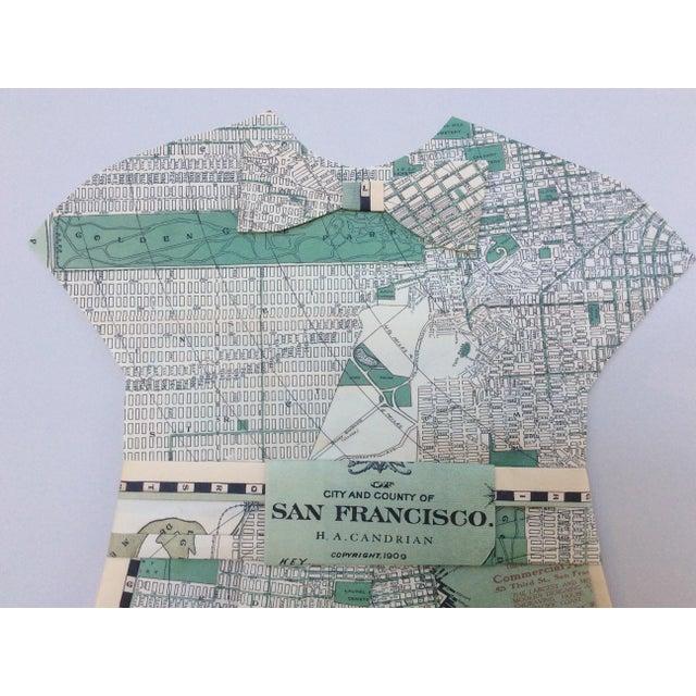 Framed 1903 San Francisco City Street Paper Art Dress - Image 4 of 5