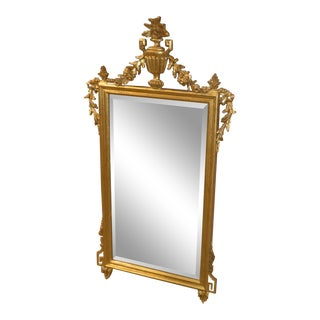 1990s Vintage LaBarge Adams Style Gold Frame Wall Mirror For Sale