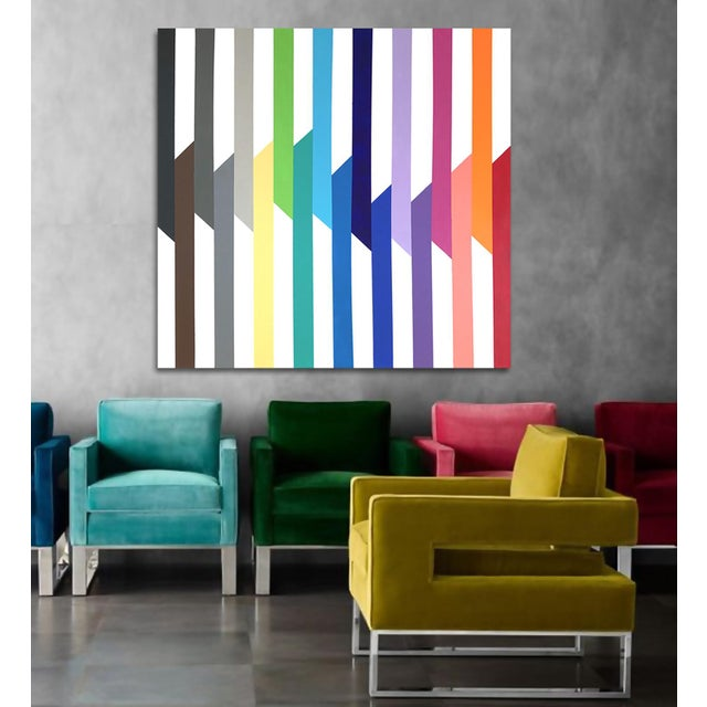 Contemporary 'Spectra' Original Op Art Painting by Linnea Heide For Sale - Image 3 of 8