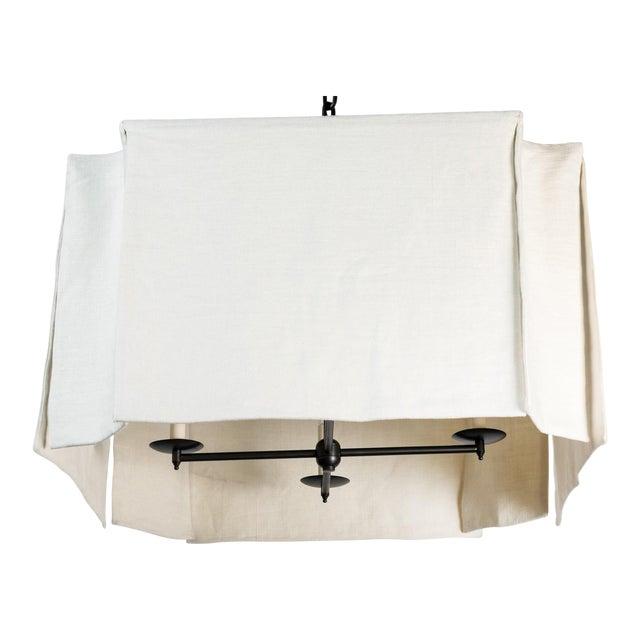 Modern Draped Linen Chandelier by Paul Marra For Sale