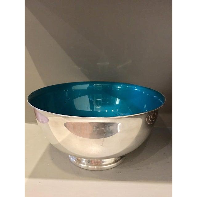 Reed & Barton Silver & Enameled Aqua Bowl - Image 4 of 5