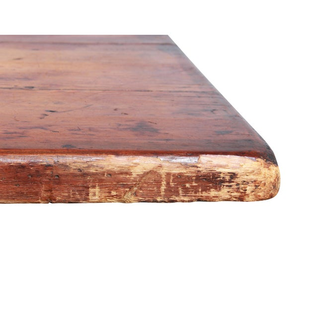 Antique Country Pine Farm Table For Sale - Image 4 of 13