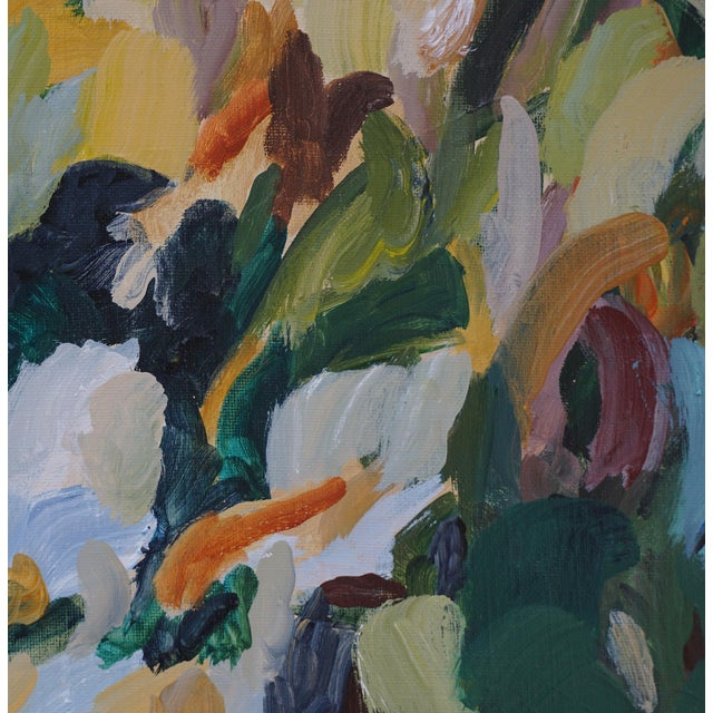 "Laurie MacMillan ""Vertical Garden"" Acrylic Painting by Laurie MacMillan, Framed For Sale - Image 4 of 6"