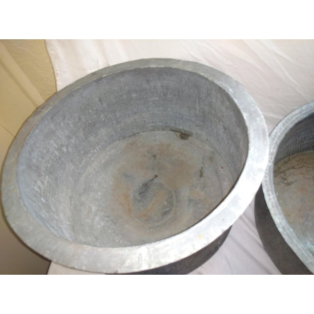 Antique Ceylonese Hammered Metal Copper Bottom Cauldrons - Set of 3 For Sale - Image 9 of 13