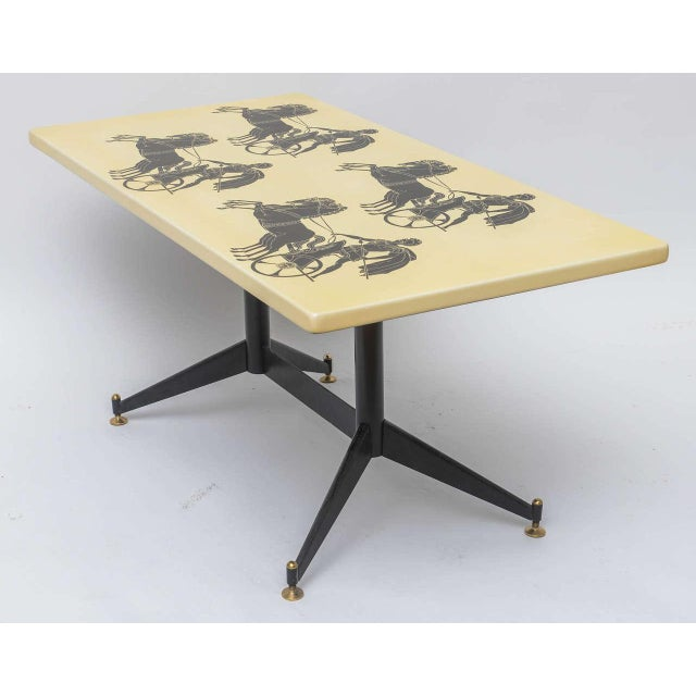 Piero Fornasetti Piero Fornasetti Bighe Coffee Table For Sale - Image 4 of 11