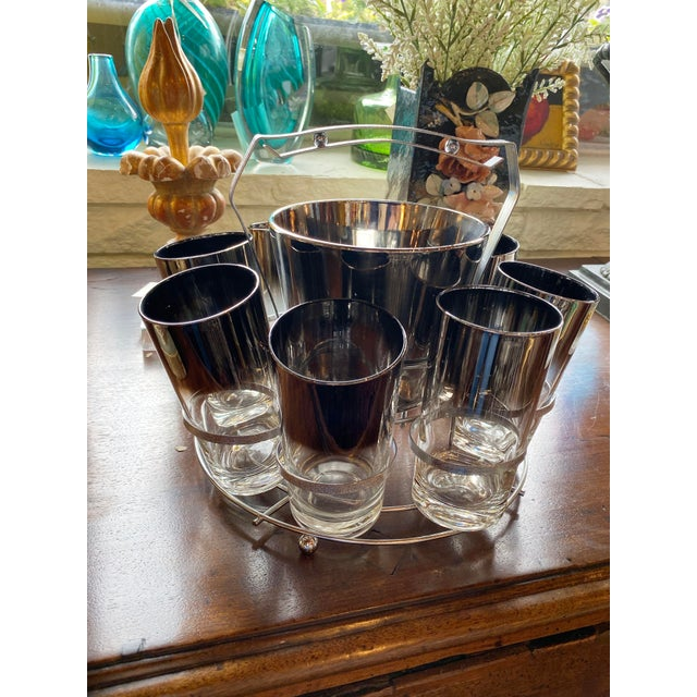 Transparent Mid 20th Century Dorothy Thorpe Glassware Set - Set of 10 For Sale - Image 8 of 9