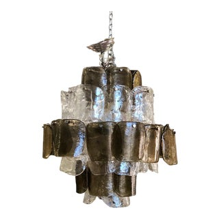 Mazzega Vintage Six-Tier Round Chandelier For Sale
