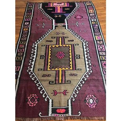 Antique Anatolian Kars Kilim Rug - 4′2″ × 6′7″ - Image 3 of 10