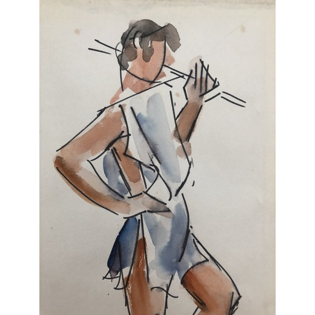 Contemporary Studio Life Class Study of a Man by Stanley Brodey, 1950s For Sale - Image 3 of 5