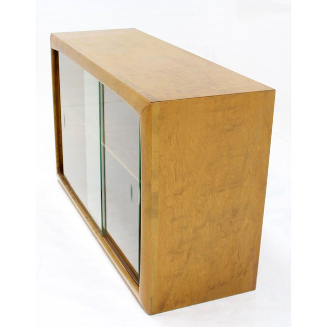 Edmond J. Spence Vintage Mid Century Edmund Spence Blonde Wood Swedish Modern Hanging Bookcase For Sale - Image 4 of 5