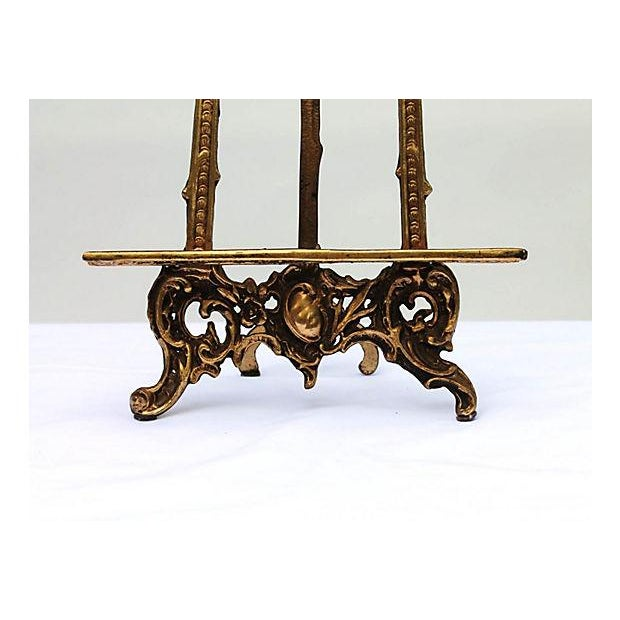 Art Nouveau Cast Brass Easel - Image 4 of 5