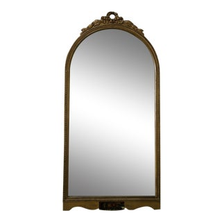 Queen Anne Style Giltwood Round Arch Console Mirror For Sale