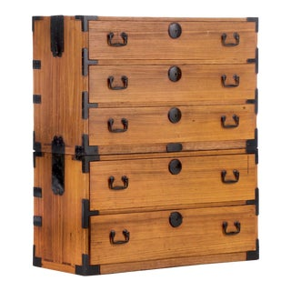 Mid 20th Century Japanese Tansu Chest For Sale