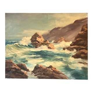 Glorious Seascape Painting on Canvas For Sale
