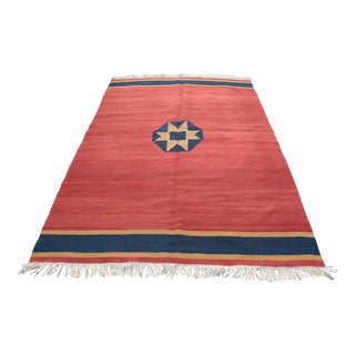1990s Turkish Handmade Kilim Rug - 5′4″ × 7′9″ For Sale
