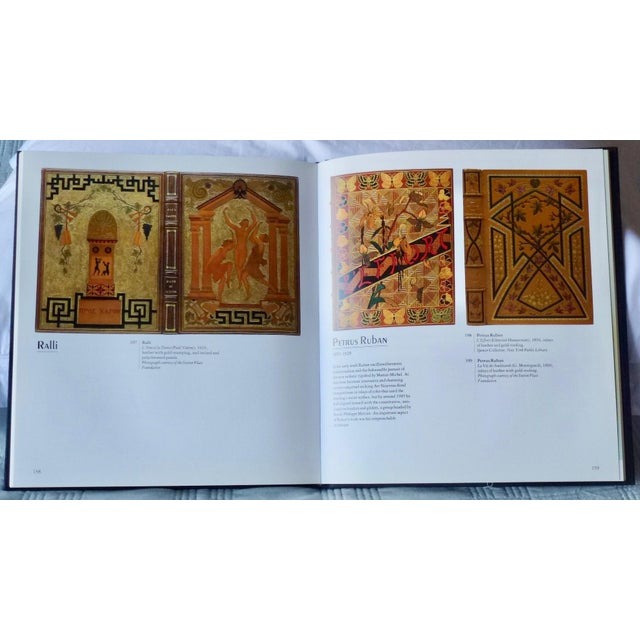 """Gold 1960s Vintage """"Art Nouveau and Art Deco Book Binding"""" Book For Sale - Image 8 of 9"""