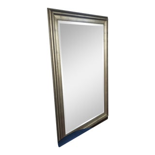Antique Brushed Gold Mirror For Sale