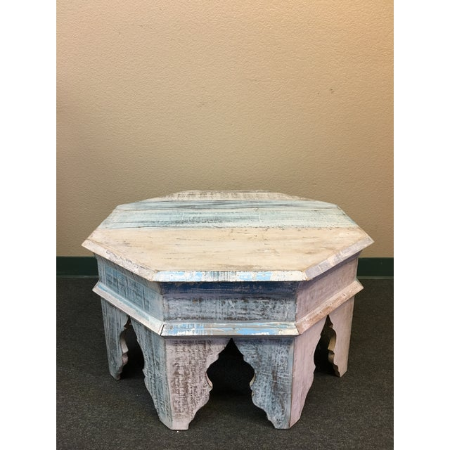 Sunrise Home Custom Wash Moroccan Style Octagonal Side Table - Image 2 of 8