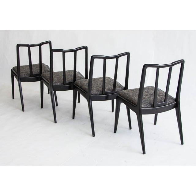 Ebonized John Stuart Dining Chairs - Set of 4 - Image 5 of 7