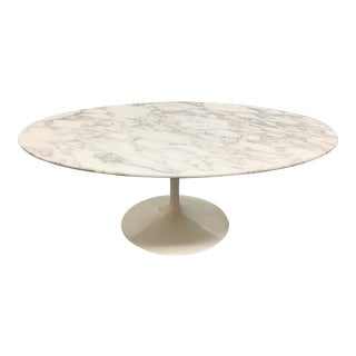 Knoll Eero Saarinen Marble Low Oval Coffee Table For Sale