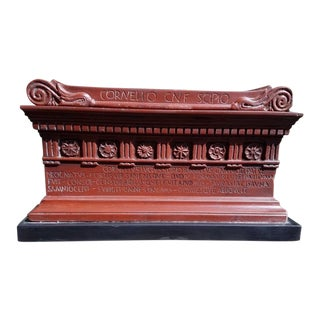 19th Century Italian Grand Tour Marmo Rosso Model of the Tomb of Scipio For Sale