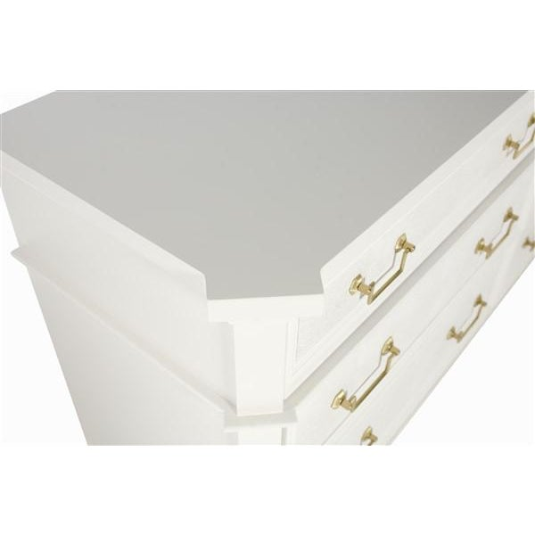 Standard with Faux Shagreen Drawer Fronts: Also available with Wood Drawer Fronts as an option. Available in choice of...