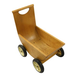 1950s Mid Century Wood Stroller Toy by Creative Playthings For Sale