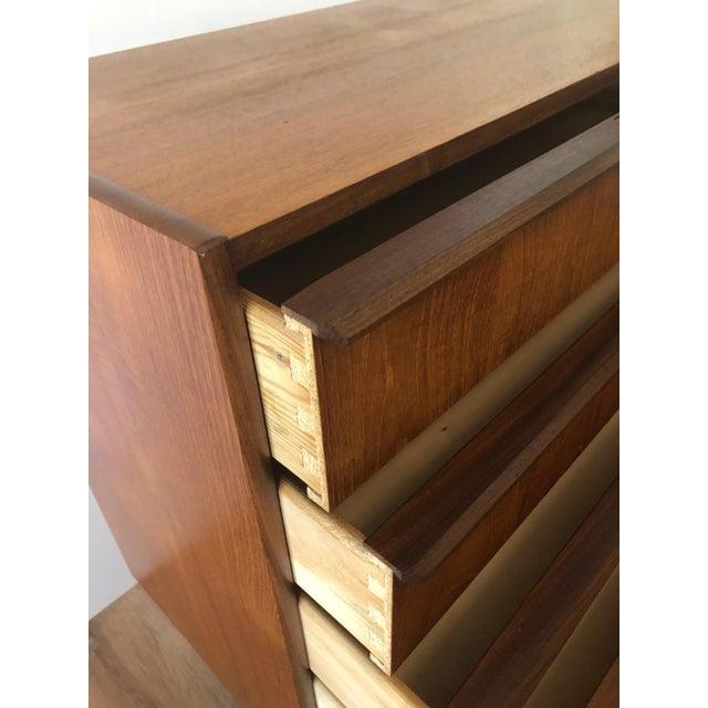 1960s 1960s Mid-Century Modern Handbjerg Mobelfabrik Teak Dresser With Key For Sale - Image 5 of 9