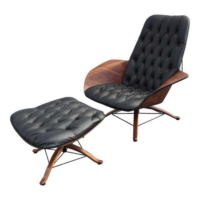 George Mulhauser for Plycraft Luxe Lounge Chair and Ottoman - Image 1 of 9