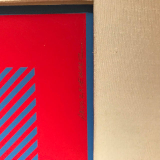 Red Richard Anuszkiewicz Op Art Signed For Sale - Image 8 of 9