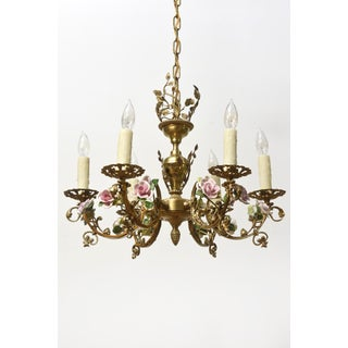 French Porcelain Roses Chandelier Preview