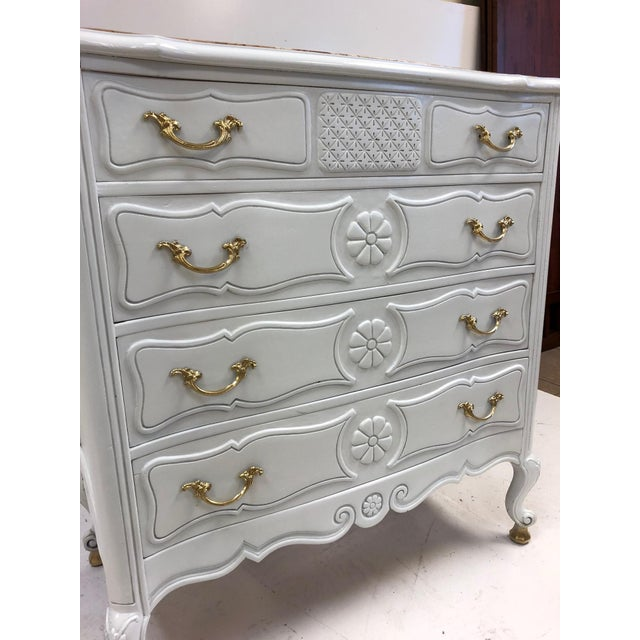 Pair of French Country Style Marble Top Commodes For Sale - Image 4 of 6