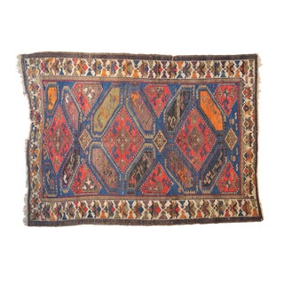 Gorgeous Antique Caucasian Tribal Rug 4.2 X 5.10