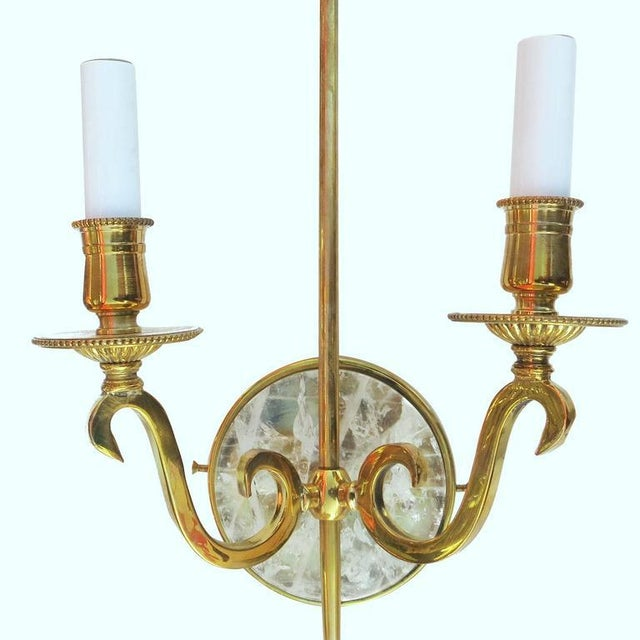 High Style Double Arm Wall Sconce with Solid Brass and Rock Crystal Stone - Image 5 of 7