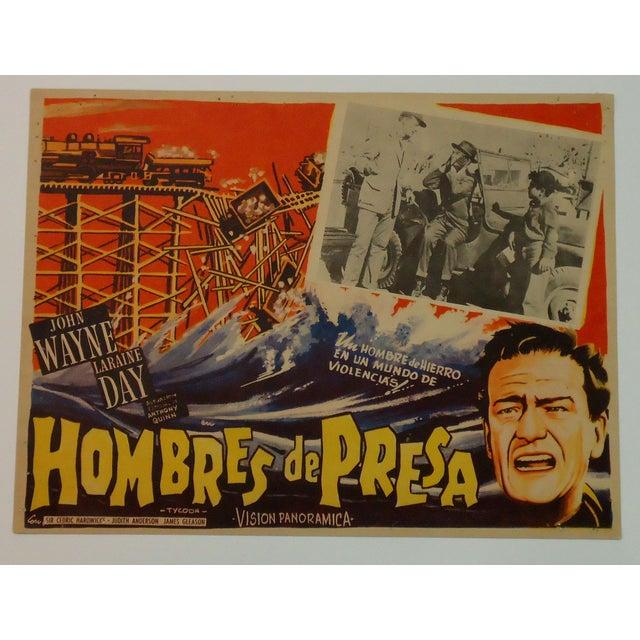 Vintage Movie Poster, John Wayne Tycoon Railroad - Image 2 of 6