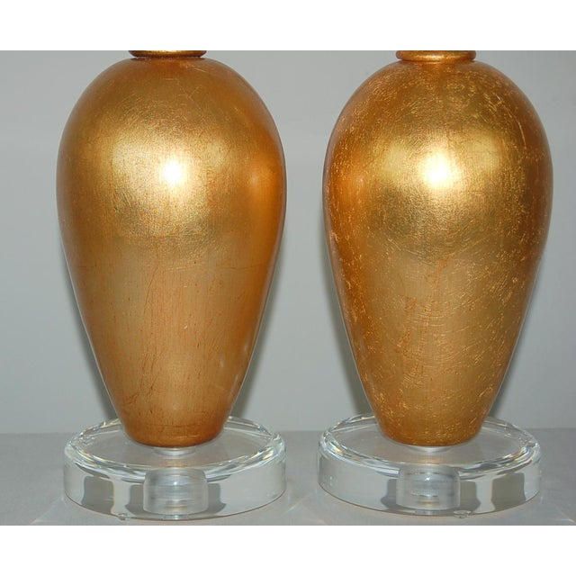 Early 20th Century The Gold Leaf Plaster Table Lamps by Swank Lighting For Sale - Image 5 of 11