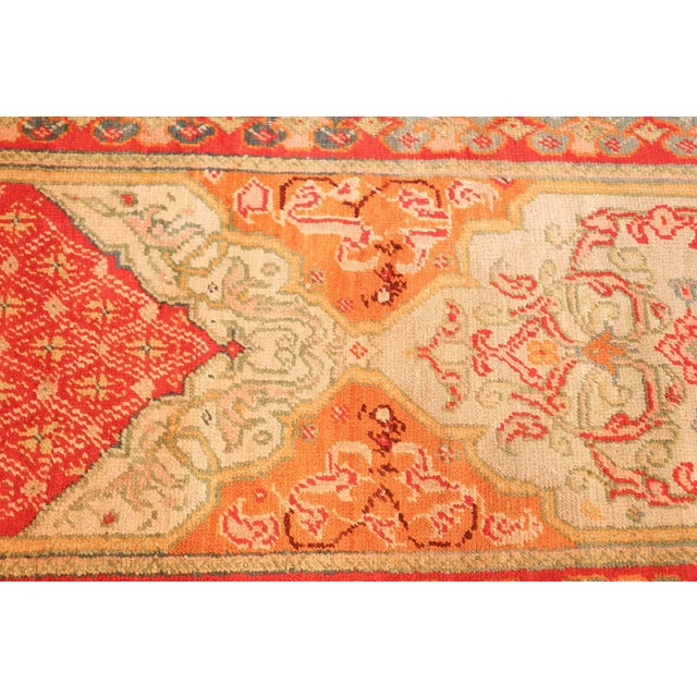 Textile Antique Arts and Crafts Turkish Oushak Runner Rug - 2′10″ × 26′ For Sale - Image 7 of 10
