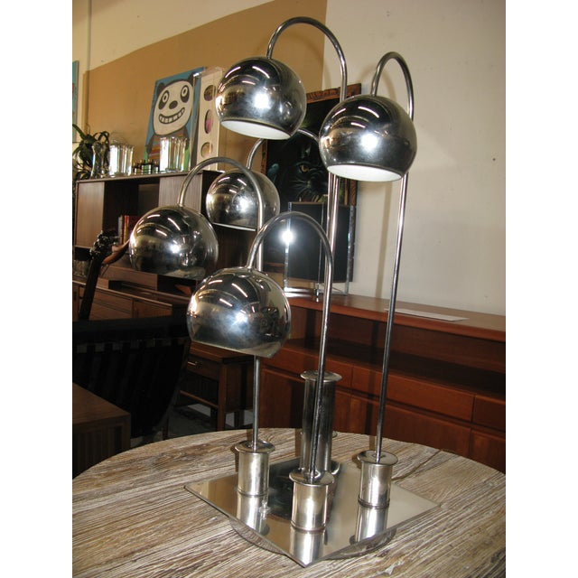 Robert Sonneman Chrome Ball Waterfall Lamp - Image 10 of 11