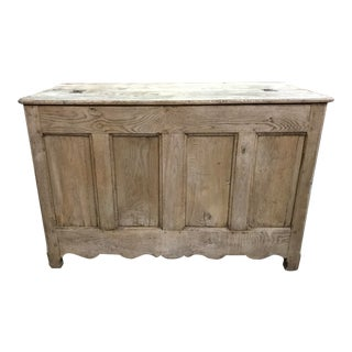 19th Century Washed Chestnut Trunk For Sale