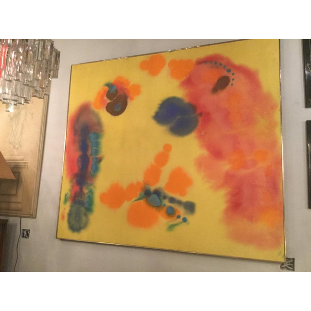 """1970s 1970s Vintage Victoria Barr """"Flare"""" Painting For Sale - Image 5 of 6"""
